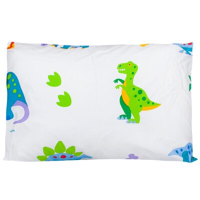 Dinosaurs Olive Kids Cotton Pillow Cover