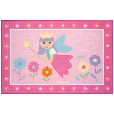 Olive Kids Fairy Princess Area Rug Rug Size: Rectangle 33 x 410