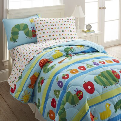 The Very Hungry Caterpillar Cotton Comforter Set Size: Twin