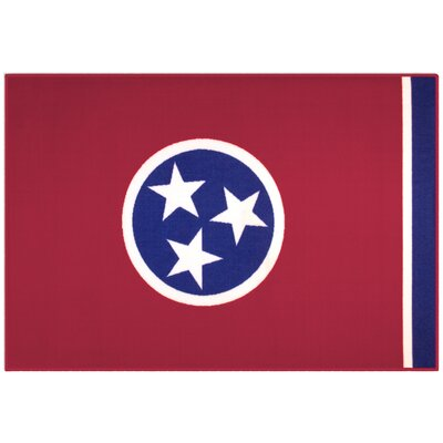 Olive Kids State of Mind Tennessee Red Area Rug