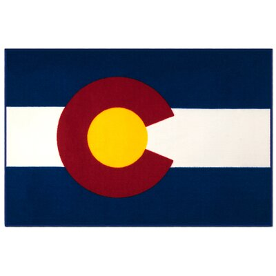 Olive Kids State of Mind Colorado Blue Area Rug