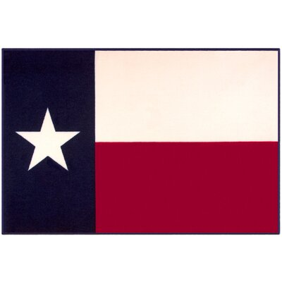 Olive Kids State of Mind Texas Red/Beige Area Rug