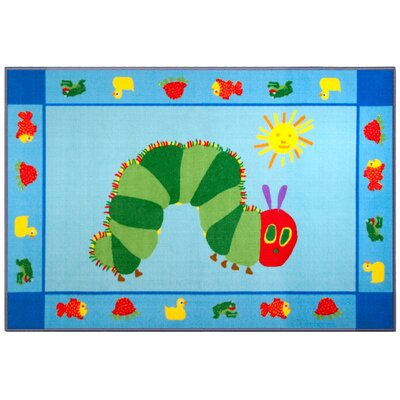 The Very Hungry Caterpillar Blue/Green Area Rug