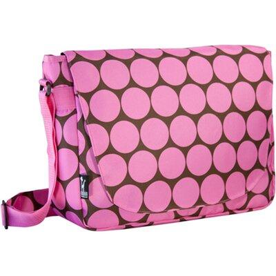 Big Dots Laptop Messenger Bag Color: Pink