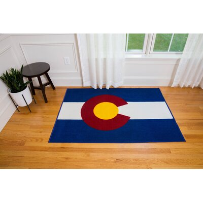 Oliver Kids State of Mind Blue Area Rug