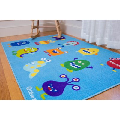 Olive Kids Monsters Blue Area Rug