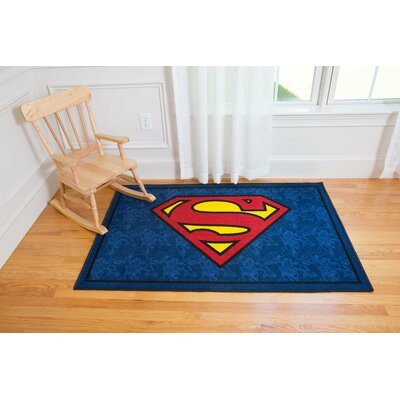 Superman Blue Area Rug