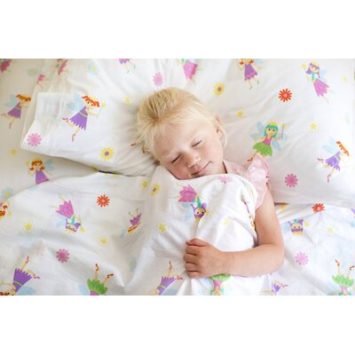 Olive Kids Fairy Princess 210 Thread Count 100% Cotton Sheet Set Size: Twin