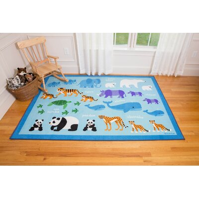 Endangered Animals Area Rug Rug Size: 33 x 410