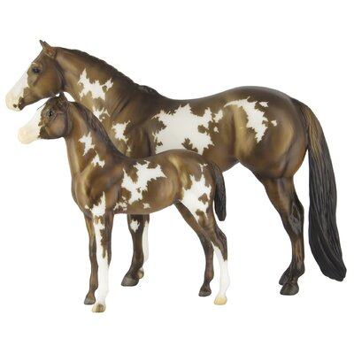 Explication sur les robes ... - Page 2 Breyer-Overo-Pinto-Mare-and-Foal-Figurine