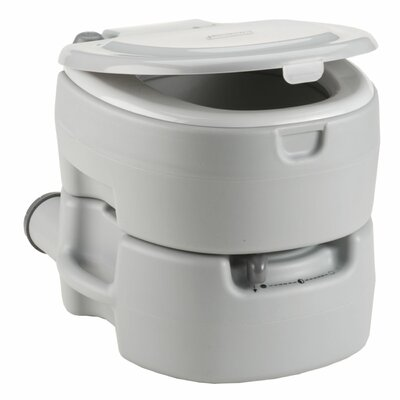 Large Portable Flush Round One-Piece Toilet