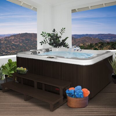 SPA, HOT TUB, JACUZZI 3 Person 34-Jet Lounger Spa with Backlit LED Waterfall