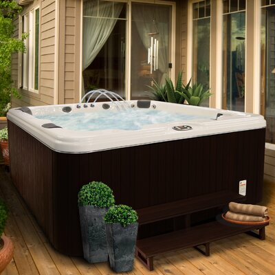 SPA, HOT TUB, JACUZZI 5 Person 37-Jet Lounger Spa with Backlit LED Waterfall
