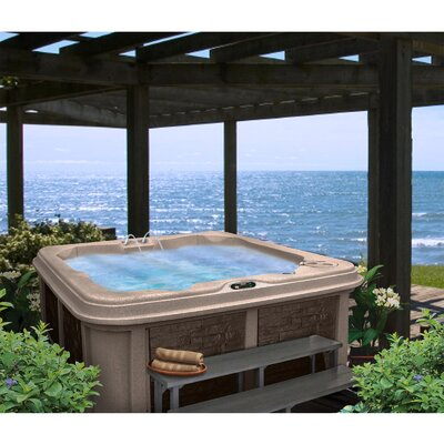 SPA, HOT TUB, JACUZZI ahb13285 Person 30-Jet Lounger Spa with Easy Plug-N-Play and LED Waterfall Finish: Cinnabar
