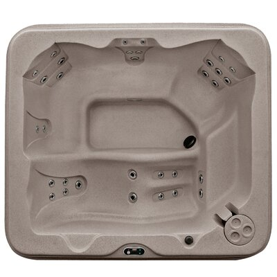 SPA, HOT TUB, JACUZZI 5-Person 30-Jet Lounger Spa with Easy Plug-N-Play and LED Waterfall Finish: Cinnabar