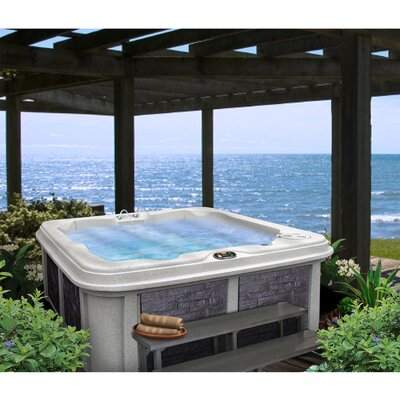 SPA, HOT TUB, JACUZZI 5 Person 30-Jet Lounger Spa with Easy Plug-N-Play and LED Waterfall Finish: Sahara