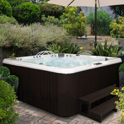 SPA, HOT TUB, JACUZZI 6 Person 56-Jet Lounger Spa with Backlit LED Waterfall