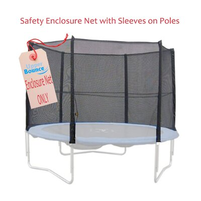 Upper Bounce 12' Trampoline Enclosure Safety Net Fits for 12 FT. Rnd Frames using 4 Straight Poles, Installs Outside of Frame (Poles Not Incl at Sears.com
