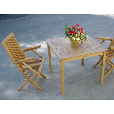 Milena 3 Piece Dining Set Fabric: Hardwood Cocoa