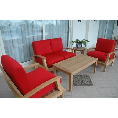 Brianna 4 Piece Deep Seating Group (Set of 2)