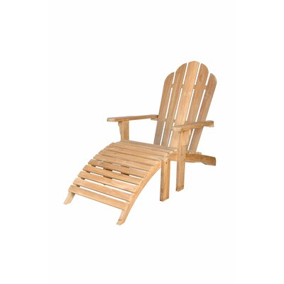 Adirondack Chair with Ottoman