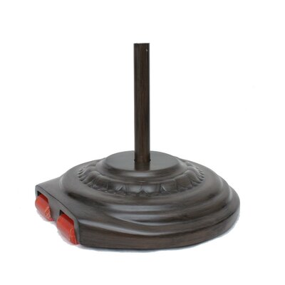 Fiberglass Free Standing Umbrella Base Weight: 110, Color: Chestnut
