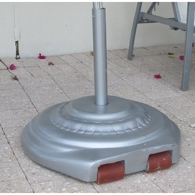Fiberglass Free Standing Umbrella Base Weight: 150, Color: Silver