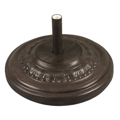 Fiberglass Free Standing Umbrella Base Weight: 175, Color: Chestnut