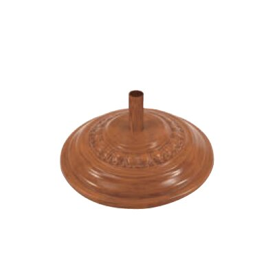 Fiberglass Free Standing Umbrella Base Weight: 125, Color: Teak