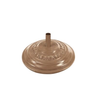 Fiberglass Free Standing Umbrella Base Color: Aged Teak, Weight: 90