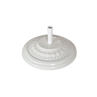 Fiberglass Free Standing Umbrella Base Weight: 125, Color: White