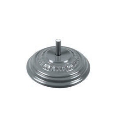 Fiberglass Free Standing Umbrella Base Weight: 175, Color: Silver