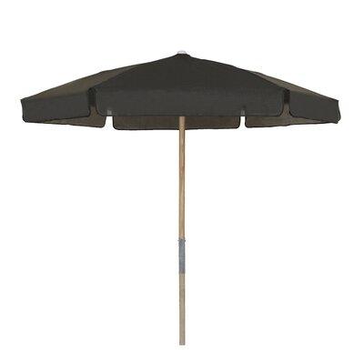 7.5 Push Up Canopy Hexagonal Market Umbrella Fabric: Black