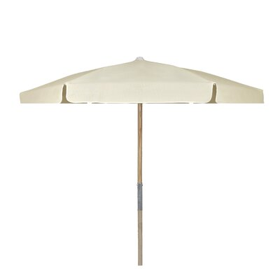 7.5 Push Up Canopy Hexagonal Market Umbrella Fabric: Natural