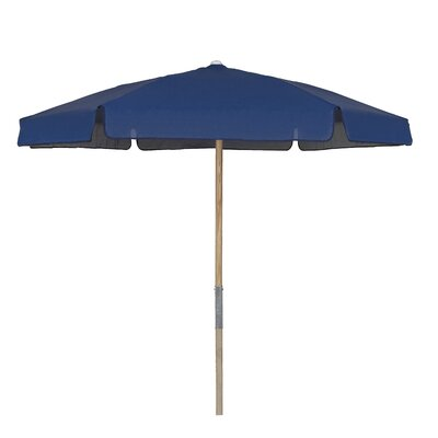 7.5 Push Up Canopy Hexagonal Market Umbrella Fabric: Navy Blue