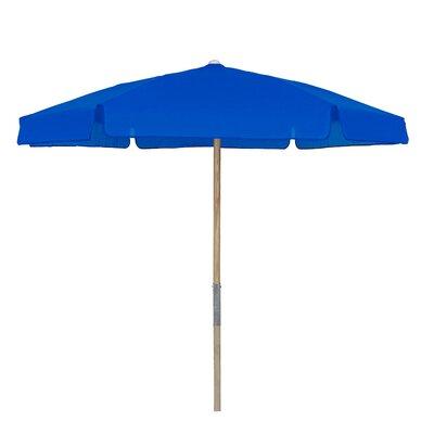 7.5 Push Up Canopy Hexagonal Market Umbrella Fabric: Pacific Blue