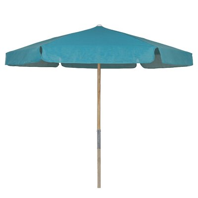7.5 Push Up Canopy Hexagonal Market Umbrella Fabric: Teal