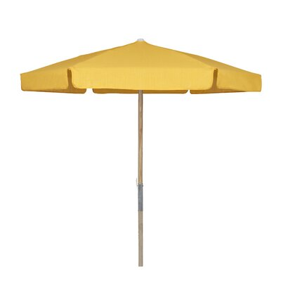 7.5 Push Up Canopy Hexagonal Market Umbrella Fabric: Yellow
