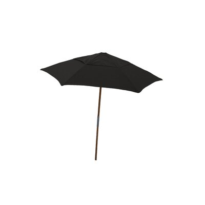 7.5 Push Up Canopy Hexagonal Market Umbrella Fabric: Black