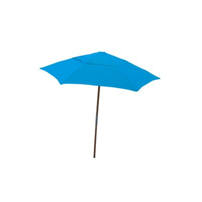 7.5 Push Up Canopy Hexagonal Market Umbrella Fabric: Pacific Blue