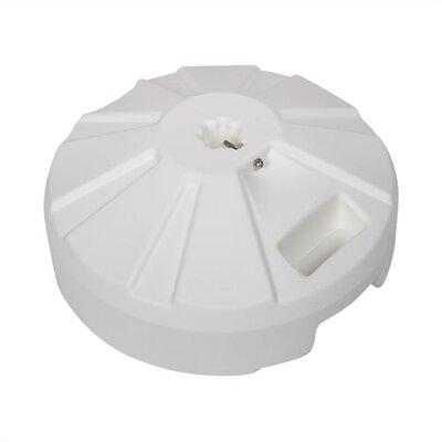 Fiberbuilt Home Plastic Umbrella Base - Finish: White