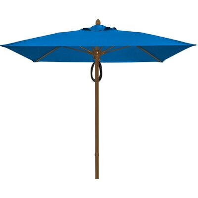 7.5 Prestige Canopy Square Market Umbrella Fabric: Pacific Blue, Frame Finish: White