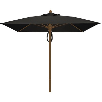 6 Prestige Canopy Square Market Umbrella Frame Finish: Champagne Bronze, Fabric: Black