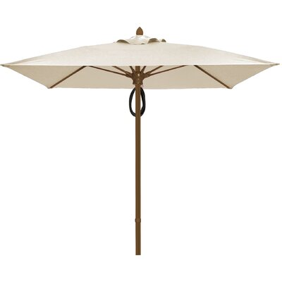 6 Prestige Canopy Square Market Umbrella Frame Finish: Champagne Bronze, Fabric: Natural