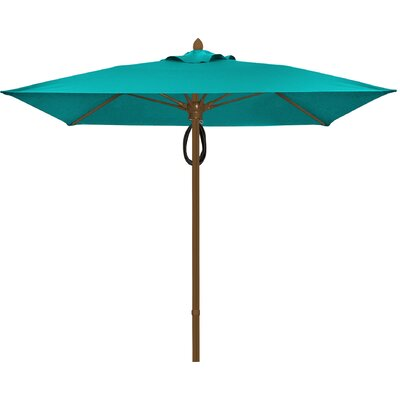 7.5 Prestige Canopy Square Market Umbrella Frame Finish: Champagne Bronze, Fabric: Aruba