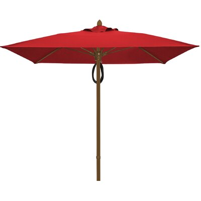 6 Prestige Canopy Square Market Umbrella Fabric: Jockey Red, Frame Finish: Champagne Bronze