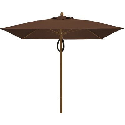 6 Prestige Canopy Square Market Umbrella Frame Finish: Champagne Bronze, Fabric: True Brown