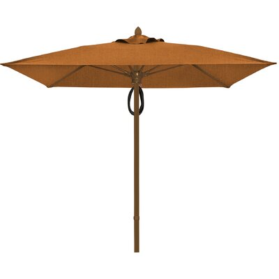 7.5 Prestige Canopy Square Market Umbrella Frame Finish: White, Fabric: Tan