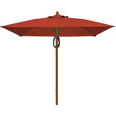 6 Prestige Canopy Square Market Umbrella Frame Finish: Champagne Bronze, Fabric: Terracotta