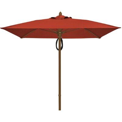 7.5 Prestige Canopy Square Market Umbrella Frame Finish: Champagne Bronze, Fabric: Terracotta